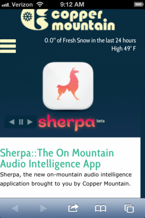 Copper sherpa app