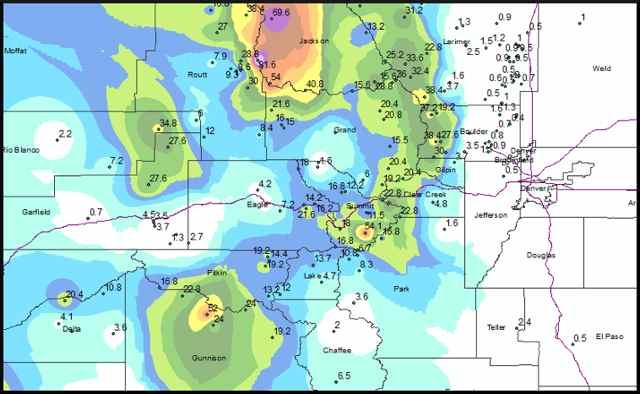 Colorado snow map