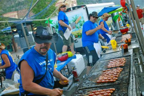 BBQ - and music on Frisco Main Street.