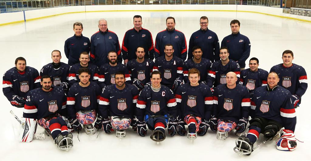 US Paralympic sled hockey team