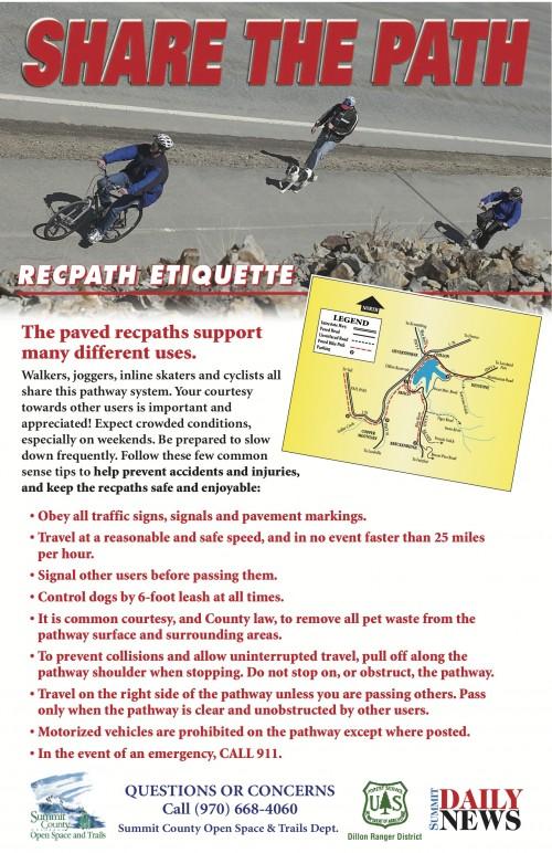 Summit County bikepath rules