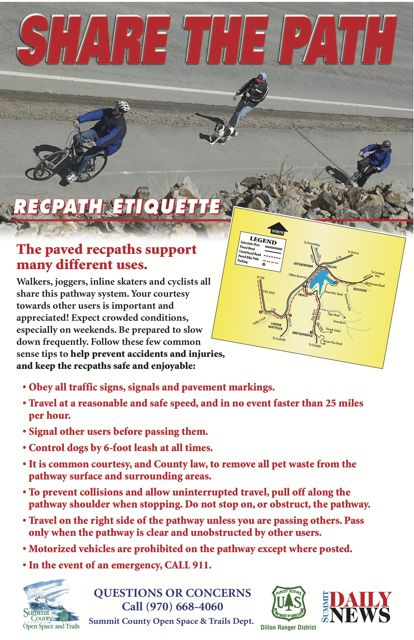 Summit County bikepath etiquette
